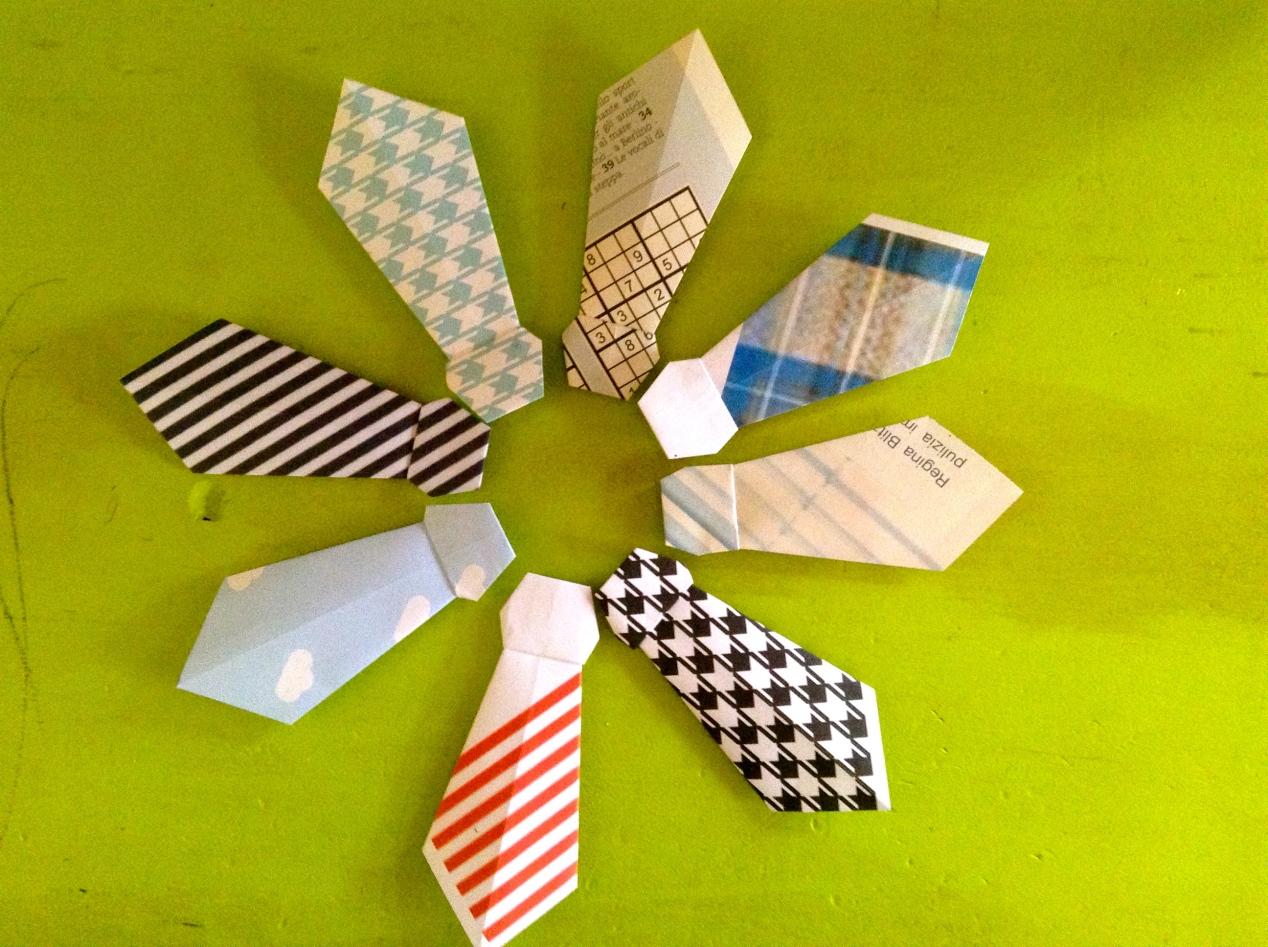 cravatta origami