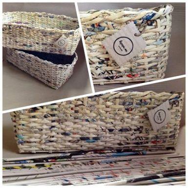 cestini carta riciclata