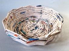 cestino di carta tondo