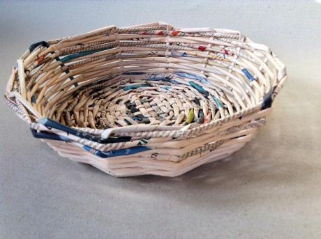 cesto di carta tondo