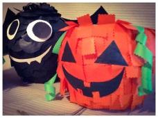 pumpkin bat pinatas