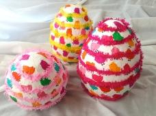 perfette anche come uova di Pasqua, anche perché la forma del palloncino si presta benissimo!